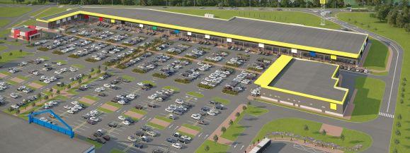 Centrum handlowe w Białkach powiększy się o 30% (wizualizacja)