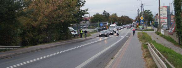 Policjanci kontrolowali rejon wiaduktu warszawskiego