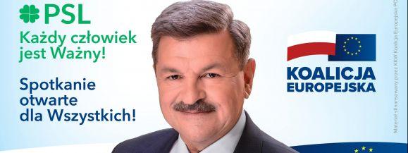 Dzisiaj prezes PSL W. Kosiniak-Kamysz oraz kandydat do PE J. Kalinowski z wizytą w Siedlcach