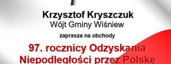 Obchody 97. rocznicy Odzyskania Niepodległości przez Polskę w Gminie Wiśniew