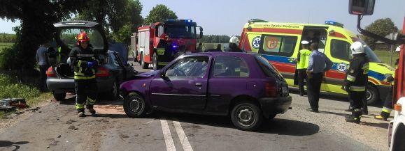 Zderzenie dwóch pojazdów w Radzikowie Wielkim
