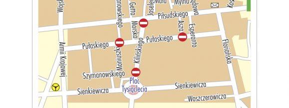 Zamknięte ulice podczas Jarmarku św. Stanisława