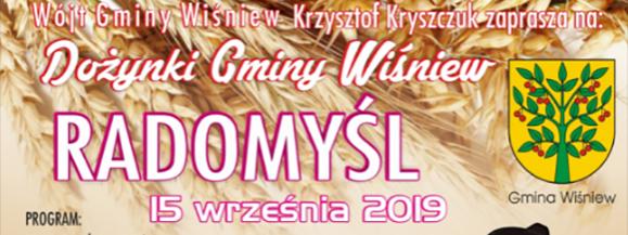 Dożynki Gminy Wiśniew 2019 pod patronatem Tuby Siedlec
