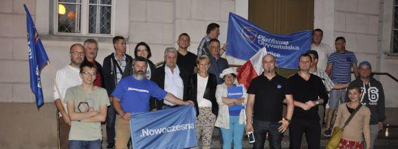 Protest przed Sądem Okręgowym w Siedlcach