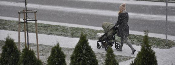 Pierwszy śnieg już w Siedlcach