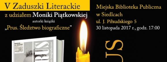 V Zaduszki Literackie w Siedleckiej Książnicy