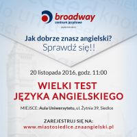 Wielki Test Języka Angielskiego 20 listopada!