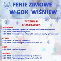 Ferie zimowe w GOK Wiśniew