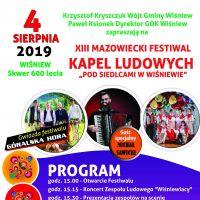 """XIII Mazowiecki Festiwal Kapel Ludowych """"Pod Siedlcami w Wiśniewie..."""""""