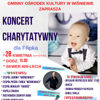 Charytatywny koncert dla Filipka w Wiśniewie
