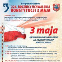 Program uroczystości 3 Maja