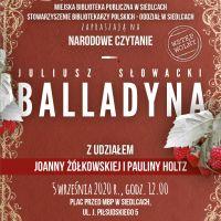 """Czytanie """"Balladyny"""" w Siedleckiej Książnicy. Joanna Żółkowska i j Paulina Holtz w Siedlcach"""