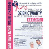 Światowy Dzień Walki z Rakiem w Siedleckim Centrum Onkologii