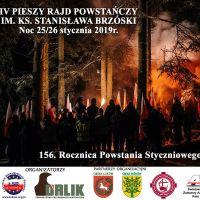 IV Pieszy Rajd Powstańczy im. Ks. Stanisława Brzóski – w 156. rocznicę wybuchu Powstania Styczniowego