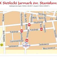 Uwaga zamknięte ulice w centrum na czas Jarmarku